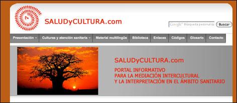 Captura de pantalla del portal saludycultura.com